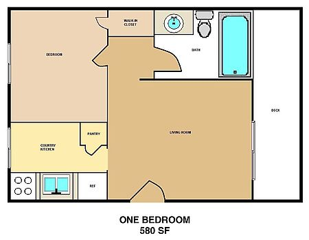 This is a One Bedroom Apartment